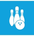 Bowling icon simple vector image