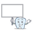 bring board tooth character cartoon style vector image vector image