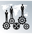 business people teamwork workforce staff gear vector image