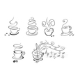 coffee cup symbols vector image vector image