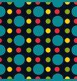 colored polka dot seamless pattern vector image vector image