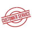 Customer Service rubber stamp vector image