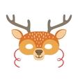 Deer Animal Head Mask Kids Carnival Disguise vector image vector image