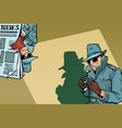 detective spy background concept vector image vector image