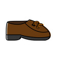 elegant shoes icon vector image