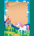 fairy tale theme parchment 7 vector image vector image