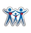 Family silhouette health care icon