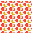 fruit pattern with coloring watermelon banana vector image