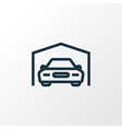 garage outline symbol premium quality isolated vector image vector image