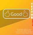 Good icon symbol Flat modern web design with long vector image