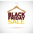 Hanger black friday poster sale vector image vector image