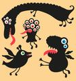 Happy monsters - Set 1 vector image