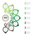 infographics with 7 options eco business vector image