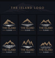island logo vector image vector image