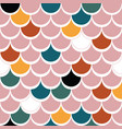 japanese traditional multicolored fish scales pink vector image