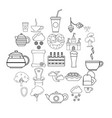 knight icons set outline style vector image vector image