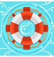 Lifebuoy flat color icon vector image vector image