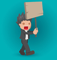Man Hold Board Protest Strike vector image