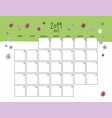 may 2019 wall calendar doodle style vector image vector image