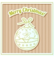 Merry Christmas card on cardboard with toy vector image vector image