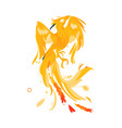 mythical phoenix bird creature from fairy tales vector image