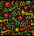 Natural honey seamless pattern vector image