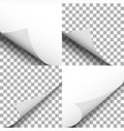 pages curl set papers corner with shadow blank vector image vector image