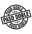 paso doble round grunge black stamp vector image vector image