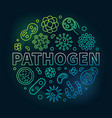 pathogen symbol made with bacteria and vector image vector image