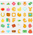 paying icons set cartoon style vector image vector image