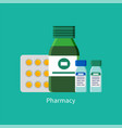 pill and capsules in blister vector image