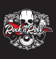 poster on theme rock and roll with inscription vector image vector image