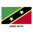 saint kitts flags design vector image