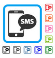 send phone sms framed icon vector image vector image