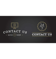 set contact us service elements and assistance vector image vector image