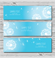 set three horizontal card with dandelions and vector image