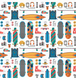 skateboard fingerboard seamless pattern background vector image