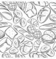 sketch bread seamless pattern vector image vector image