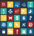 spring set on color squares background vector image