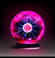 stock realistic plasma globe vector image vector image