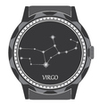 The watch dial with the zodiac sign Virgo vector image