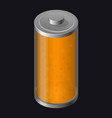 Transparent glass battery orange color