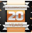 twenty years anniversary celebration golden
