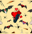 vampire seamless pattern for the valentine day vector image vector image