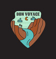 vintage camping adventure badge vector image vector image