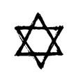 vintage style star david symbol vector image vector image