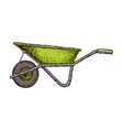 wheelbarrow isolated sketch vector image vector image