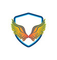 wings logo design template vector image vector image