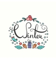 Winter Poster with Lettering vector image