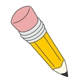 Big yellow pencil vector image